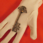 Vintage Asymmetrical Huge Skeleton Key Brooch