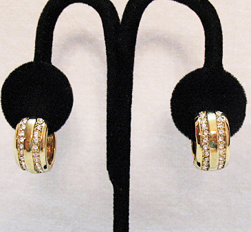 50% Off Vintage Magnetic Pava Rhinestone Hoop Earrings