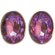 Yummy Vintage Massive Lavender Rhinestone Earrings