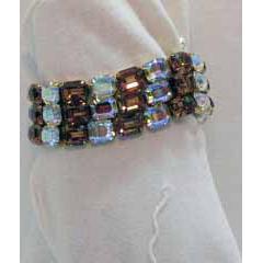 50% OFF Signed Kramer Vintage Emerald Rhinestone Bracelet Magnificent!!