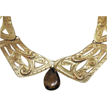 Vintage Egyptian Revival Collar Necklace