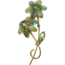 50% OFF Juliana D&E Vintage Double Rhinestone Givre Glass Brooch