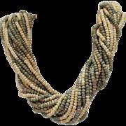 50% OFF Unusual Signed Tanner Vintage Torsade Necklace