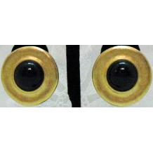 50% OFF Vintage Signed Erwin Pearl Earrings Fernando Originals Black Glass