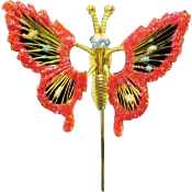 Vintage Trembler Costume Jewelry Butterfly Stick Pin