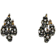 50% OFF Awesome Vintage Orb Rhinestone Clip Earrings