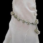 Awesome Vintage Orb Rhinestone Bracelet