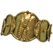 50% OFF Unique Vintage Hand Wrought Modernist Brass Cuff Bracelet