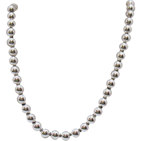 Awesome Vintage Napier Silver Beaded Chain Necklace