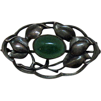 50% OFF Vintage Sterling Silver Germany Scottish Agate Brooch