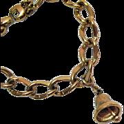Vintage Monet Golden Bell Charm Bracelet