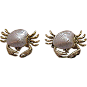 Darling Vintage Sand Crabs Scatter Pins Claim Shells