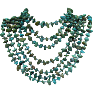 50% Off Amazing Vintage 92 Inch 102 Grams Turquoise Necklace
