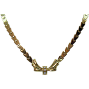 Custom Design Elegant Vintage 18K 750 Diamond Estate Necklace~Appraisal