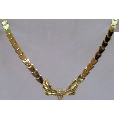 50% Off Custom Design Italian Elegant Vintage 18K 750 Diamond Estate Necklace Appraisal OVER $3,000