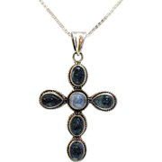 Vintage Retired Nicky Butler Genuine Quarts Cross Necklace