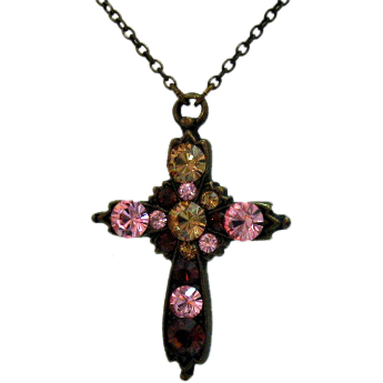 50% Off Retired Vintage Signed Nicky Butler Cross Necklace Made in France