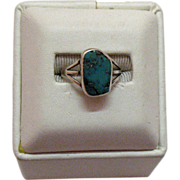 Sterling Vintage American Indian Turquoise Ring