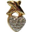 50% OFF Vintage Sterling Silver and Vermeil Hugs Kisses Pierced Earrings Signed WM