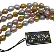 50% OFF Vintage Honora Baroque Fresh Water Cultured Pearl Bracelet Necklace 64 Inches Long