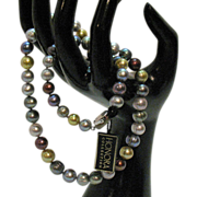Amazing Honora Signature Collection Fresh Water Cultured Ringed Pearl Necklace