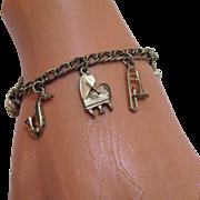 Darling Vintage Musical Instruments Charm Bracelet