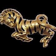 50% Off Vintage Signed Trifari Prancing Zebra Brooch