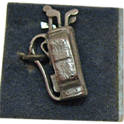 Vintage Sterling Silver Golf Clubs and Bag Charm by Wells