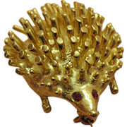 Darling Vintage Whimsical Porcupine Brooch