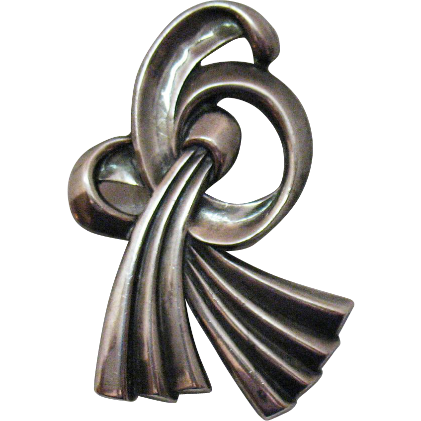 Signed Margot De Taxco Vintage Sterling Brooch Designer #858