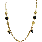 Beautiful Vintage 1980's Collete Filigree Ball Necklace
