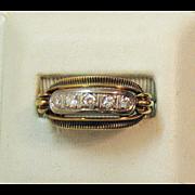 Vintage Pinter Family Estate 14K 585 Antique Diamond Ring ~Hallmarked JPK