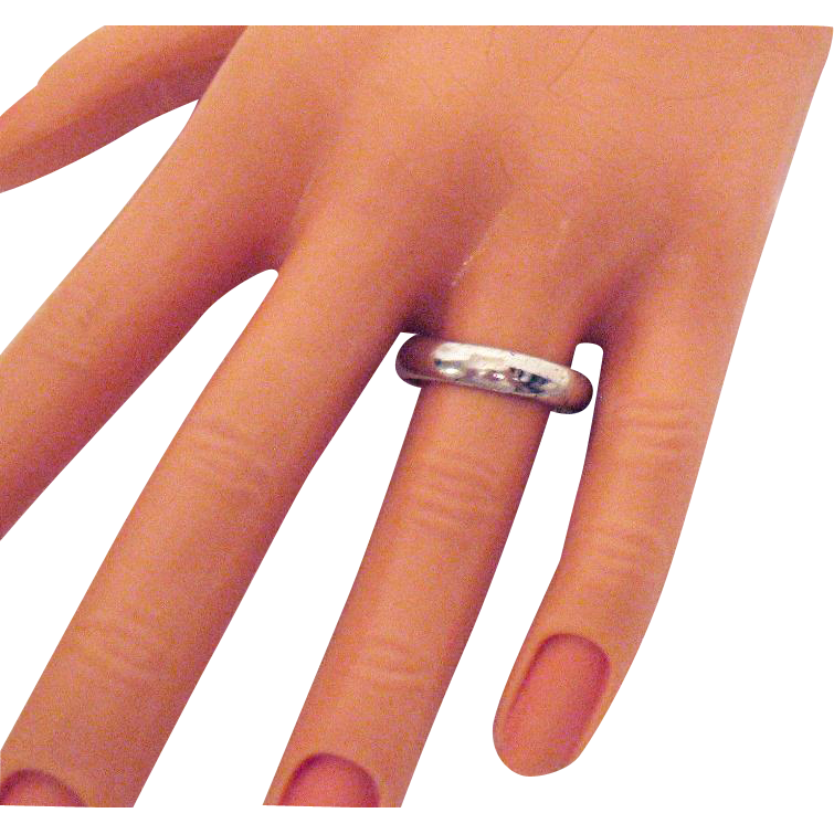 50% OFF Vintage Sterling Silver Band Ring
