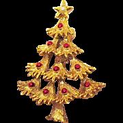 Vintage Signed Gerrys Christmas Tree Brooch/Pin