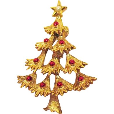 Vintage Signed Gerrys Christmas Tree Brooch/Pin