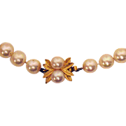 50% OFF Gorgeous Vintage Signed Majorica Faux Pearl Necklace