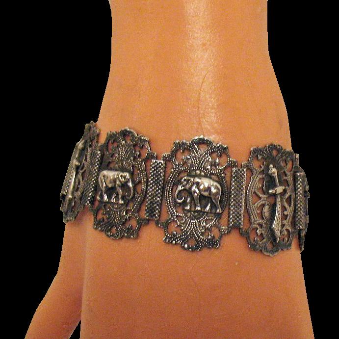 50% OFF Interesting Vintage Persian Panel Bracelet~800 Silver