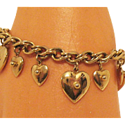 50% OFF Fun Gold Plated Vintage Heart Charm Bracelet