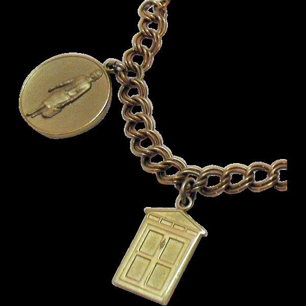 Rare Vintage Avon 'Presidents Award' Charm Bracelet~1965