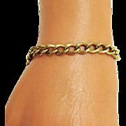 Vintage Handmade 12K Yellow Gold Filled Link/Charm Bracelet