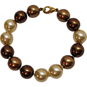 Gorgeous Vintage Honora Fresh Water Cultured Round Pearl Bracelet~8 Inches Long!