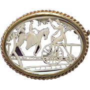 Gorgeous Vintage Depose France Celluloid Silhouette Brooch