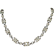 50% Off Art Deco Vintage Rock Crystal Sterling Silver Necklace