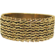 Awesome Vintage 14K Gold Woven Band Ring