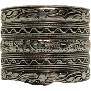 50% Off Awesome Vintage Aluminum Tin Etched Wide Cuff Bracelet