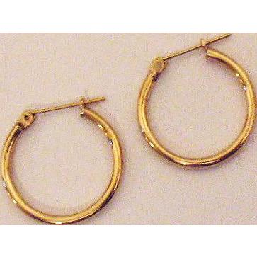 50% OFF Vintage Hallmarked JCM 14K Gold Hook Pierced Earrings