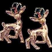 Vintage Signed Gerry's Figural Reindeer Scatter Pins