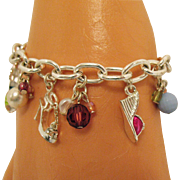 For the Love of High Heel Shoes Vintage 1970s Charm Bracelet