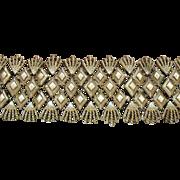 Awesome Signed Coro Pegasus Vintage Wide Link Bracelet Original Box