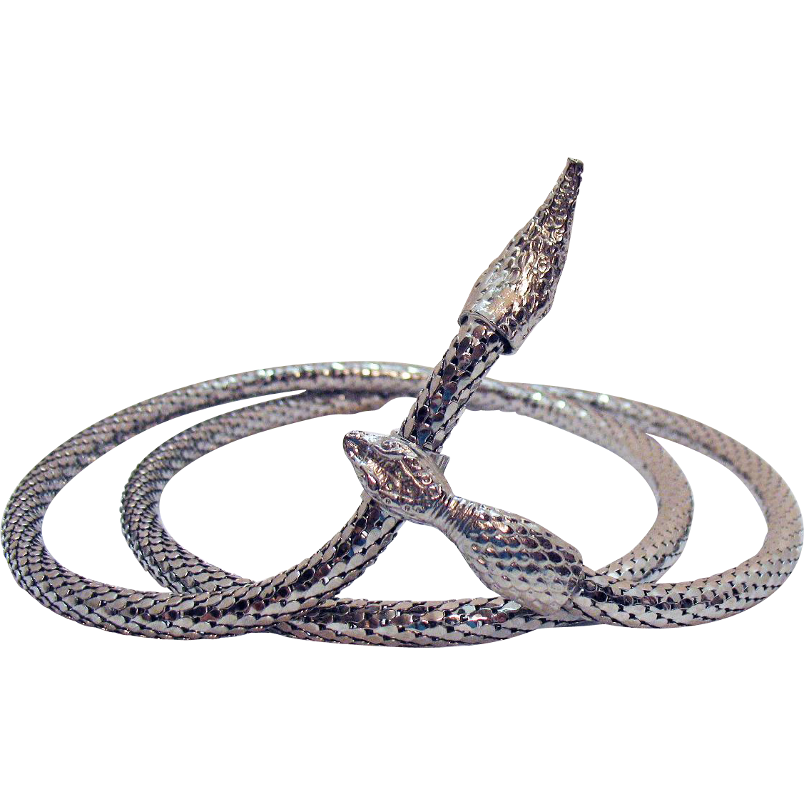 Vintage Silver Mesh Snake Necklace or Belt